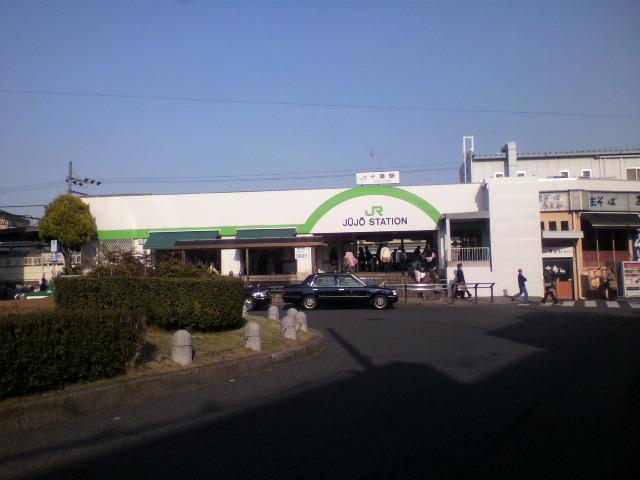 十条 十条駅です。 駅前には十条銀座商店街があり、多くの人がいました。 結構...  ひろじぞう