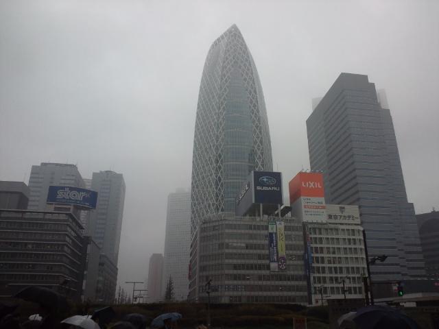 都内は天気悪し