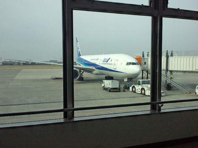 松山から戻ります