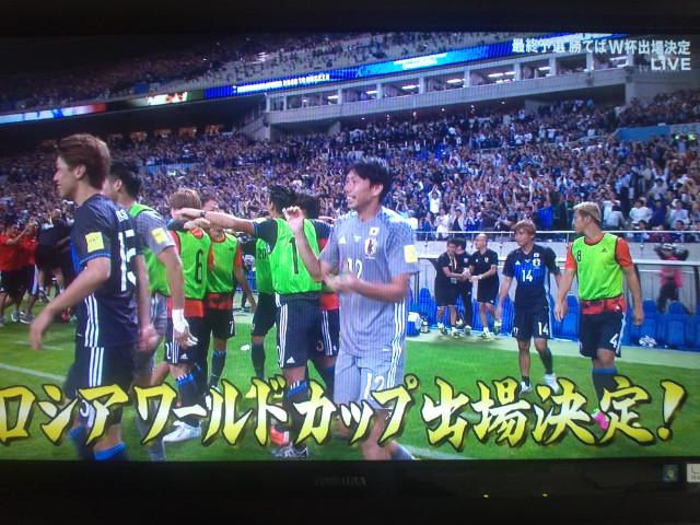 ワールドカップ出場決定